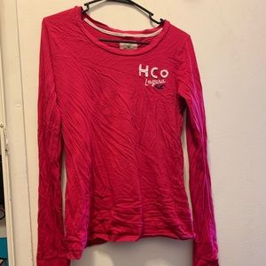 Bright Red Hollister Shirt